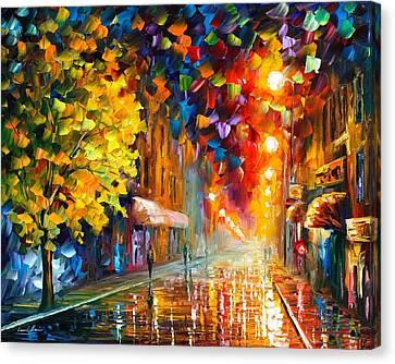Happy Street Canvas Print by Leonid Afremov