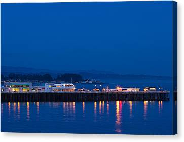 Harbor And Municipal Wharf At Dusk Canvas Print by Panoramic Images