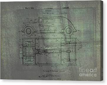 Harleigh Holmes Automobile Patent From 1932 Canvas Print by Doc Braham