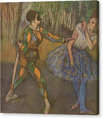Harlekin Und Colombine Canvas Print