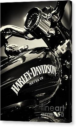 Motors Canvas Print - Harley D Sepia by Tim Gainey