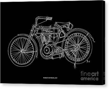 Harley Davidson 1907 Canvas Print by Pablo Franchi