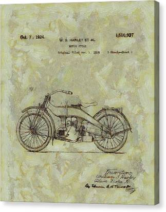 Harley Davidson Patent Canvas Print by Dan Sproul