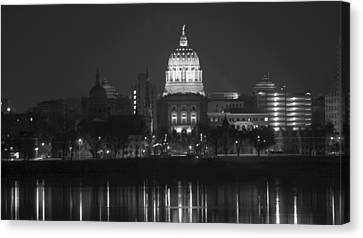 Harrisburg State Capital   # Canvas Print by Rob Luzier