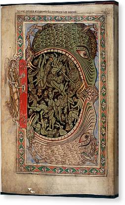 Harrowing Of Hell Canvas Print by British Library