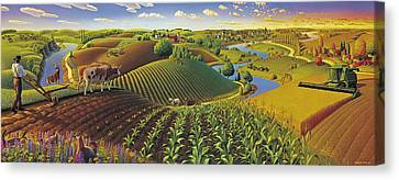 Harvest Panorama  Canvas Print by Robin Moline