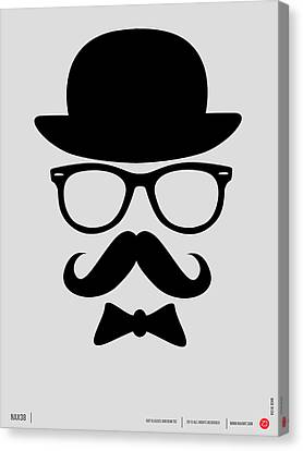 Hats Glasses And Mustache Poster 2 Canvas Print