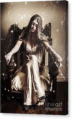 Ghost Canvas Print - Haunting Horror Scene With A Strange Vampire Girl  by Jorgo Photography - Wall Art Gallery