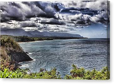 Hawaii Big Island Coastline V2 Canvas Print by Douglas Barnard