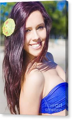 Hawaiian Girl In Hawaii Canvas Print by Jorgo Photography - Wall Art Gallery