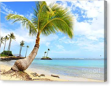 Canvas Print featuring the photograph Hawaiian Paradise by Kristine Merc