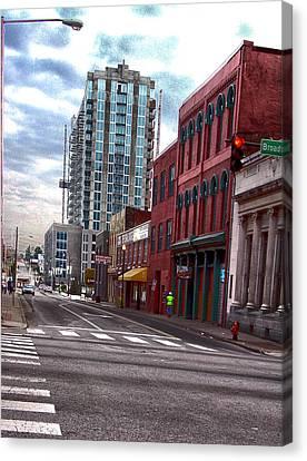 Hdr Street Photography Nashville Tn Canvas Print by Lesa Fine