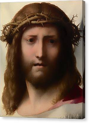 Head Of Christ Canvas Print by Mountain Dreams