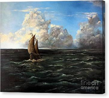 Heading For Shore Canvas Print by Lee Piper