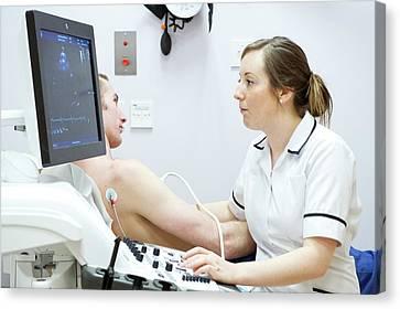Heart Disease Canvas Print - Heart Ultrasound by Lth Nhs Trust