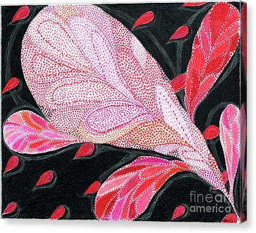 Heartpods Canvas Print by Kim Sy Ok