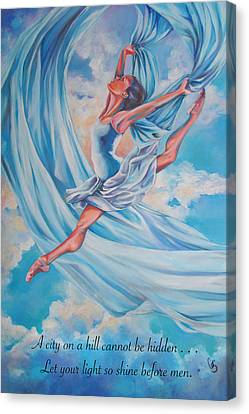 Heavenly Dance Canvas Print by Tamer and Cindy Elsharouni