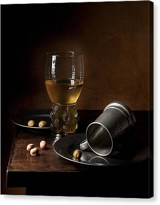 Canvas Print featuring the photograph Heda - Still Life With Large Roemer And Goblet by Levin Rodriguez