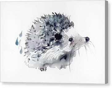 Hedgehog Canvas Print by Krista Bros