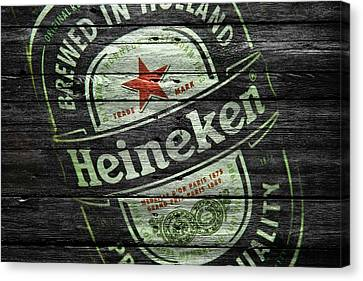 Handcrafted Canvas Print - Heineken by Joe Hamilton