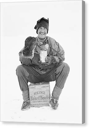 Heinz Baked Beans In Antarctica Canvas Print by Scott Polar Research Institute