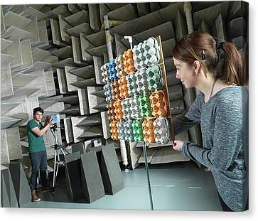 Hemi-anechoic Chamber Research Canvas Print by Andrew Brookes, National Physical Laboratory