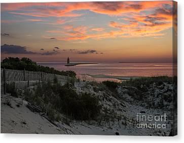 Henlopen Sunset Canvas Print by Robert Pilkington
