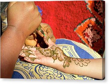 Henna Tattoo Canvas Print by Thierry Berrod, Mona Lisa Production