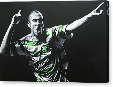Henrik Larsson - Celtic Fc Canvas Print