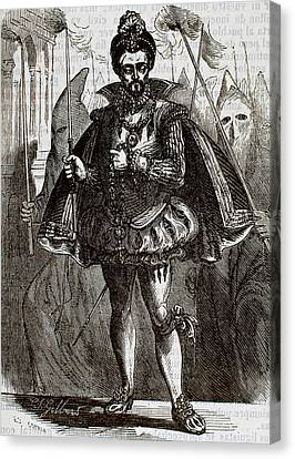 Henry IIi Of France (1551-1589 Canvas Print
