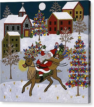 Here Comes Santa Claus Canvas Print by Medana Gabbard