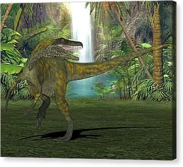 Herrerasaurus Dinosaur Canvas Print by Friedrich Saurer