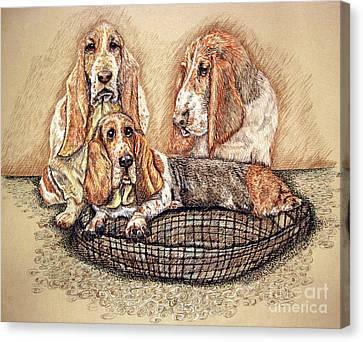 Hess'er Puppies Canvas Print