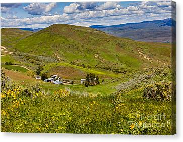 Hidden Ranch Canvas Print by Robert Bales