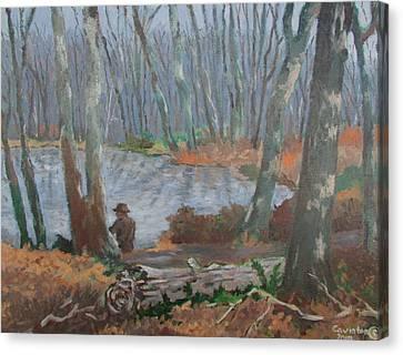 Canvas Print featuring the painting Hidden Treasure by Tony Caviston