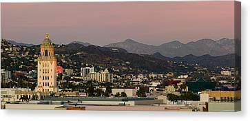 High Angle View Of A City, Beverly Canvas Print