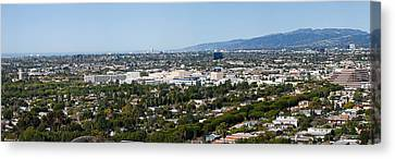 High Angle View Of A City, Culver City Canvas Print by Panoramic Images