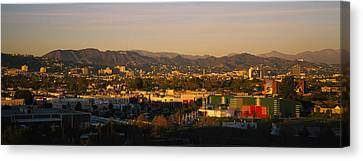 High Angle View Of A City, San Gabriel Canvas Print by Panoramic Images