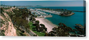 Dana Canvas Print - High Angle View Of A Harbor, Dana Point by Panoramic Images