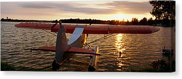 High Angle View Of A Sea Plane, Lake Canvas Print by Panoramic Images