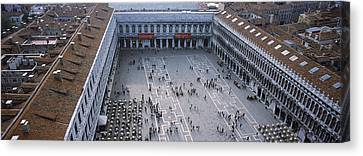 High Angle View Of A Town Square, St Canvas Print