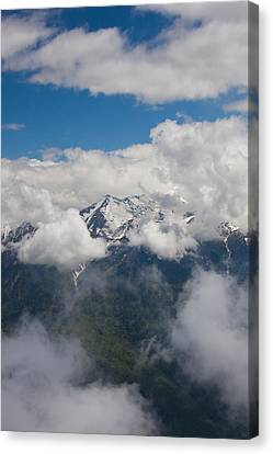 High Angle View Of Mountain Landscape Canvas Print by Panoramic Images