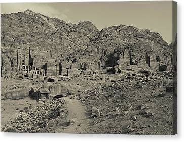 Nabatean Canvas Print - High Angle View Of Royal Tombs by Panoramic Images