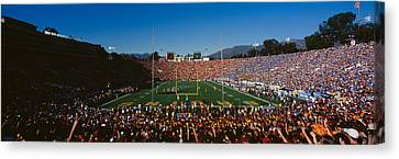 High Angle View Of Spectators Watching Canvas Print by Panoramic Images