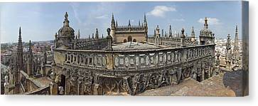High Angle View Of The Seville Canvas Print by Panoramic Images