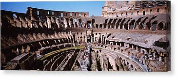 High Angle View Of Tourists In An Canvas Print
