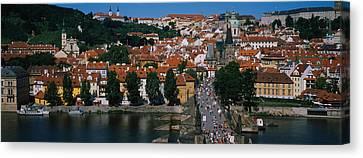 High Angle View Of Tourists Canvas Print