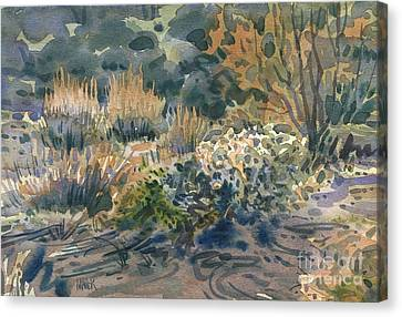 Canvas Print featuring the painting High Desert Flora by Donald Maier