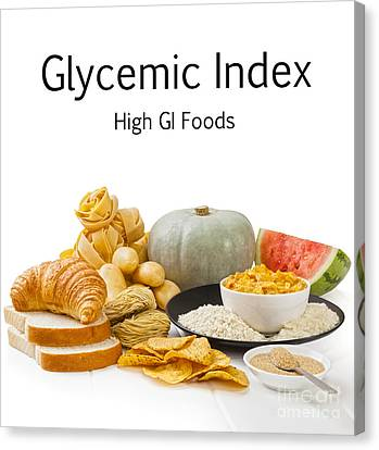 High Glycaemic Index Foods Canvas Print by Colin and Linda McKie