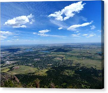 High Over Boulder Colorado Canvas Print